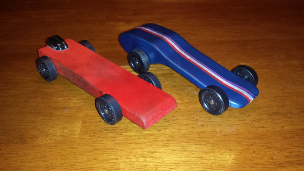 stay at home dad pinewood derby